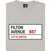 Bristol Rovers: Filton Avenue BS7 Road Sign T-Shirt