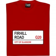Partick Thistle: Firhill Road G20 Road Sign T-Shirt