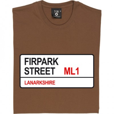 Motherwell FC: Firpark Street ML1 Road Sign