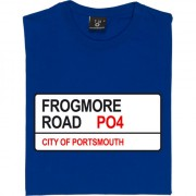 Portsmouth FC: Frogmore Road PO4 Road Sign T-Shirt