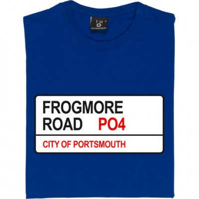 Portsmouth FC: Frogmore Road PO4 Road Sign