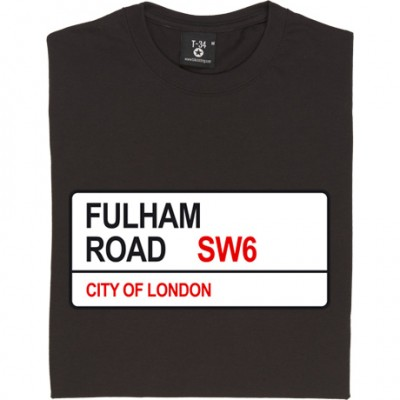 Chelsea FC: Fulham Road SW6 Road Sign