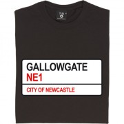 Newcastle United: Gallowgate NE1 Road Sign T-Shirt