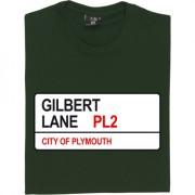 Plymouth Argyle: Gilbert Lane PL2 Road Sign T-Shirt