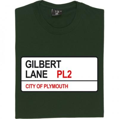 Plymouth Argyle: Gilbert Lane PL2 Road Sign