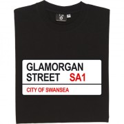Swansea City: Glamorgan Street SA1 Road Sign T-Shirt