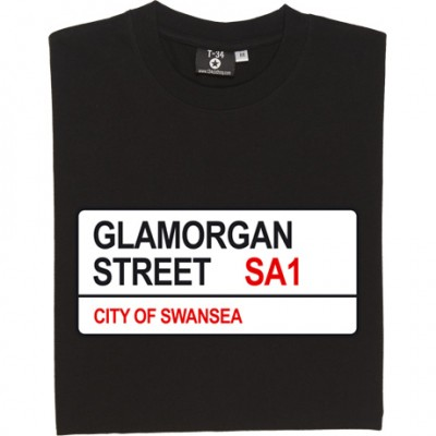 Swansea City: Glamorgan Street SA1 Road Sign