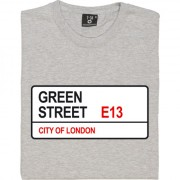 West Ham United: Green Street E13 Road Sign T-Shirt