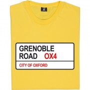 Grenoble Road OX4 Road Sign T-Shirt