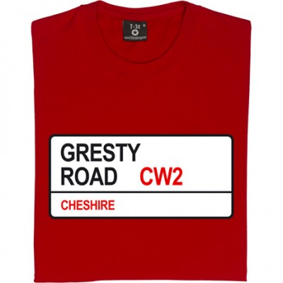 Crewe Alexandra: Gresty Road CW2 Road Sign