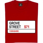 Barnsley FC: Grove Street S71 Road Sign T-Shirt