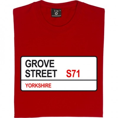 Barnsley FC: Grove Street S71 Road Sign