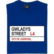 Everton FC: Gwladys Street L4 Road Sign T-Shirt