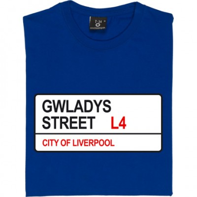 Everton FC: Gwladys Street L4 Road Sign