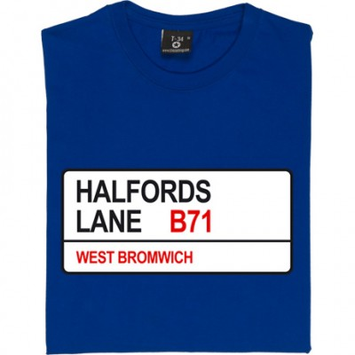West Bromwich Alboin: Halfords Lane B71 Road Sign