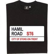 Port Vale: Hamil Road ST6 Road Sign T-Shirt