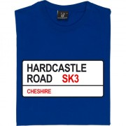 Stockport County: Hardcastle Road SK3 Road Sign T-Shirt