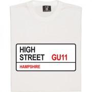 Aldershot Town: High Street GU11 Road Sign T-Shirt