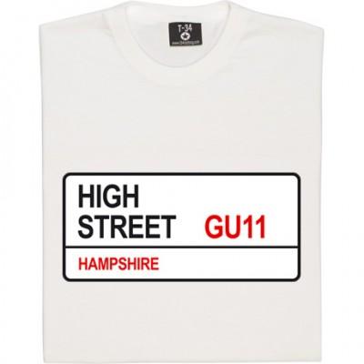 Aldershot Town: High Street GU11 Road Sign