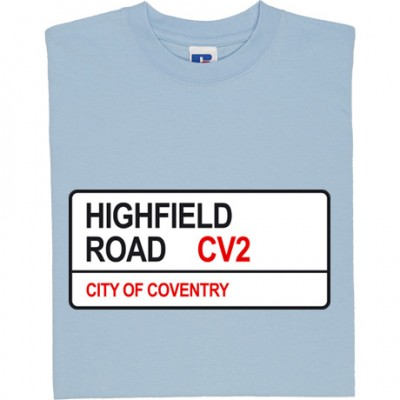 Coventry City: Highfield Road CV2 Road Sign