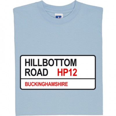 Wycombe Wanderers: Hillbottom Road HP12 Road Sign