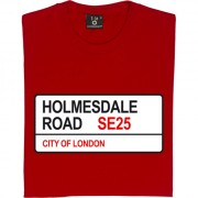 Crystal Palace: Holmesdale Road SE25 Road Sign T-Shirt