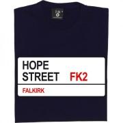 Falkirk FC: Hope Street FK2 Road Sign T-Shirt