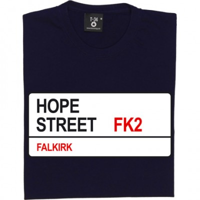 Falkirk FC: Hope Street FK2 Road Sign