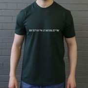 Yeovil Town: Huish Park Coordinates T-Shirt