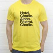 Hull City FC: Hotel Charlie Alpha Foxtrot Charlie T-Shirt