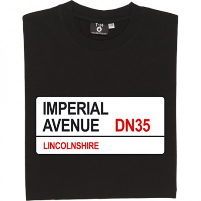 Grimsby Town: Imperial Avenue DN35 Road Sign