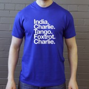 Inverness CT: India Charlie Tango Foxtrot Charlie T-Shirt