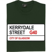 Celtic FC: Kerrydale Street G40 Road Sign T-Shirt