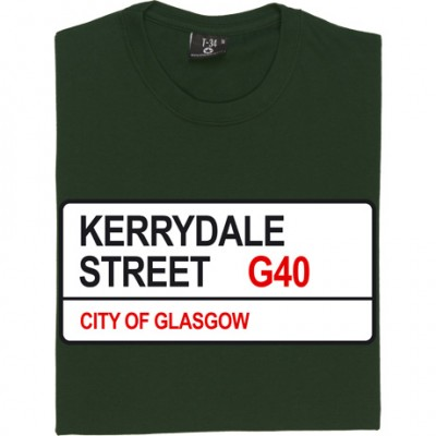 Celtic FC: Kerrydale Street G40 Road Sign