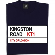 AFC Wimbledon: Kingston Road KT1 Road Sign T-Shirt