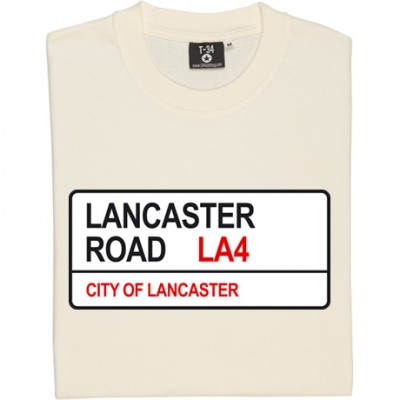 Morecambe FC: Lancaster Road LA4 Road Sign