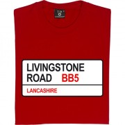 Accrington Stanley: Livingstone Road BB5 Road Sign T-Shirt
