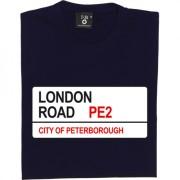 Peterborough FC: London Road PE2 Road Sign T-Shirt