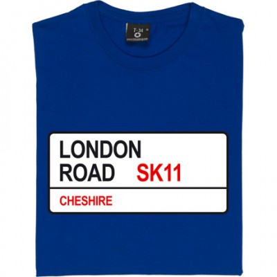 Macclesfield Town: London Road SK11 Road Sign