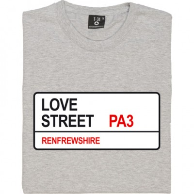 St. Mirren: Love Street PA3 Road Sign