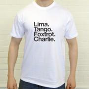 Luton Town FC: Lima Tango Foxtrot Charlie T-Shirt
