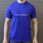 Reading: Madejski Stadium Coordinates T-Shirt