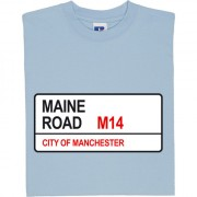 Manchester City: Maine Road M14 Road Sign T-Shirt