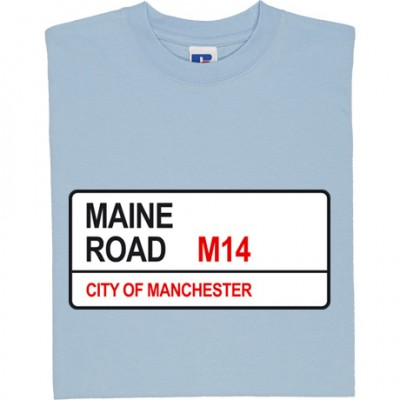 Manchester City: Maine Road M14 Road Sign