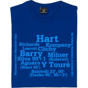Manchester City 6-1 Manchester Derby Line-Up T-Shirt