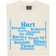 Manchester City 2011 FA Cup Final Line-Up T-Shirt