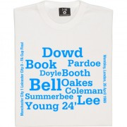 Manchester City 1969 FA Cup Final Line Up T-Shirt