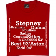 Manchester United 1968 European Cup Final Line Up T-Shirt