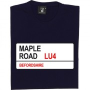 Luton Town: Maple Road LU4 Road Sign T-Shirt