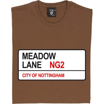 Notts County: Meadow Lane NG2 Road Sign